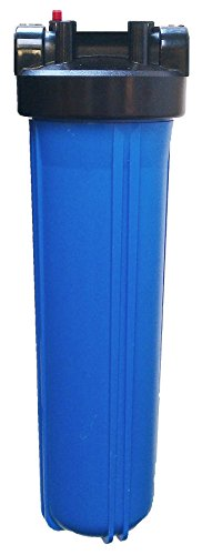 20'pollici BB custodia di filtro dell'acqua con porte BSP 1 pollice, jumbo grande Filter Housing blu