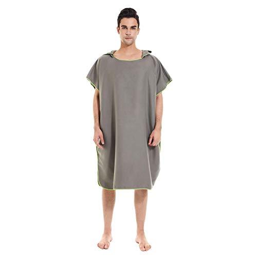 MOVKZACV Traje de neopreno cambiador, toalla para hombres y mujeres, secado rápido, talla única con capucha manga poncho con capucha