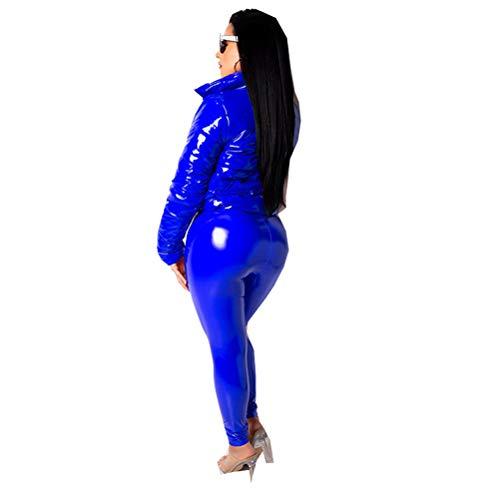Chaquetas Invierno Mujer Abrigo Invierno Mujer Plumífero Largo Mujer Plumas Mujer Invierno Anorak Mujer Plumon Chaleco Plumas Mujer Largo Plumifero Ultraligero Mujer Plumas Ligeros Mujer Azul real XXL