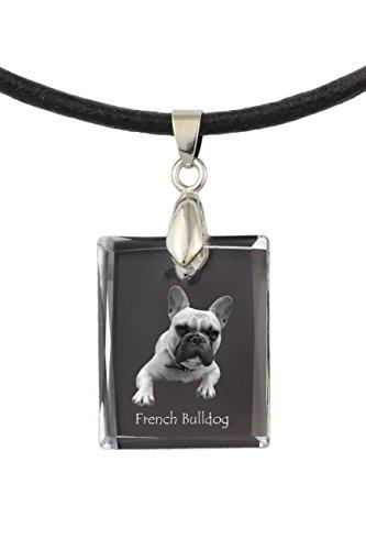 Französische Bulldogge, Hundekristallhalskette, Anhänger, Qualität, außergewöhnliches Geschenk, Sammlung