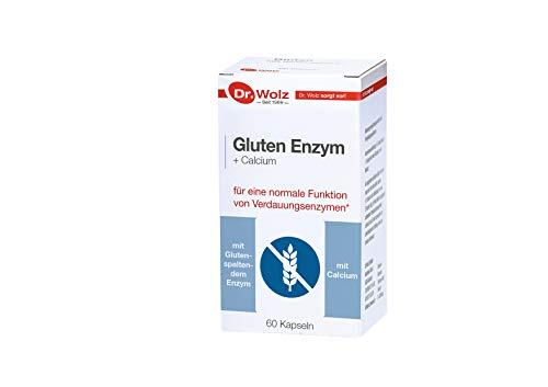 Gluten Enzym Dr. Wolz | hilft Gluten abzubauen | mit Gluten spaltendem Enzym | 60 Kapseln