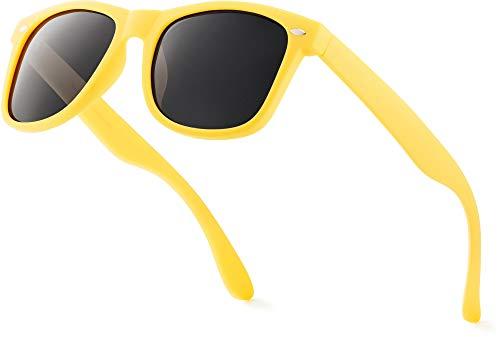 Retro Rewind Classic Polarized Sunglasses,Yellow | Smoke Polarized