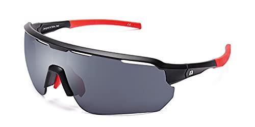 CLANDESTINE Epic Black R - Gafas de Sol deportivas para Mujer y Hombre