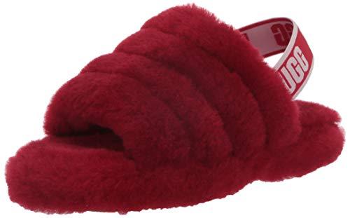 UGG Kids' Fluff Yeah Slide Slipper, Ribbon Red, 6
