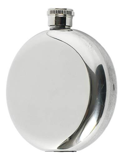CCB Fiaschetta Bottiglietta Vuota in Acciaio Inox da 142 ml (5 Once). Forma Rotonda. Idea Regalo