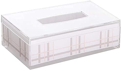 Sysrqcer Caja de Tejido acrílico de Doble Capa Inglaterra Hogar Rectángulo Rectangular Toalla Toalla Toalla de baño Dispensador de Toallas, 25.5x13.5x8cm
