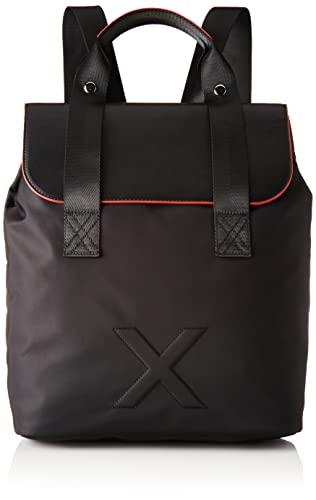 Munich Neon Backpack BLANCK, BAGS para Mujer, BLACK + RED, Grande