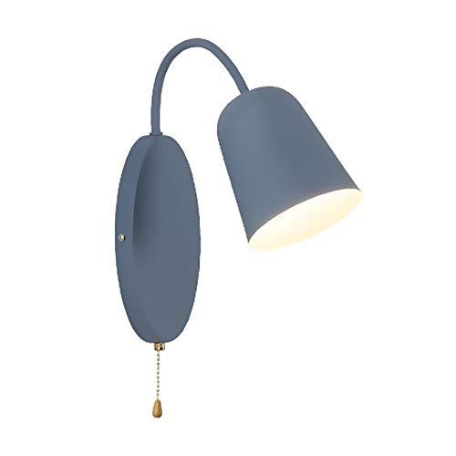 ZHCSYL Lámparas de pared Creativa minimalista Macaron la lámpara de pared, de fondo de color pared linterna, verde/rosa/amarillo/azul de noche Dormitorio Sala Estudio Comedor Decoración aplique