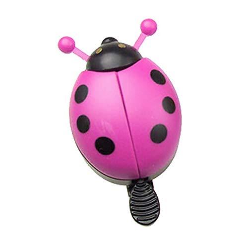 fuchsiaan Ladybird Shape Bicycle Bell, Safety for Adult Kids Mini Mountain Bike, Road Bike, City Bike, Scooter, Super Loud Cycling Handlebar Horn Alarm Bell Bike Accessories Pink