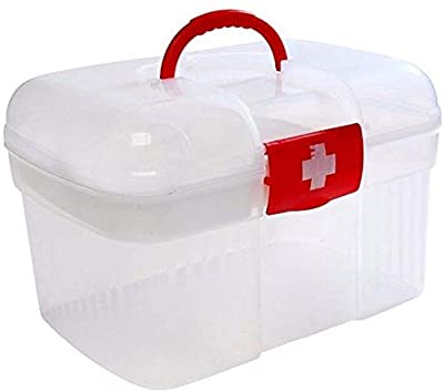 Homesoul Double Layers Health Care First Aid Medicine Storage Box, White