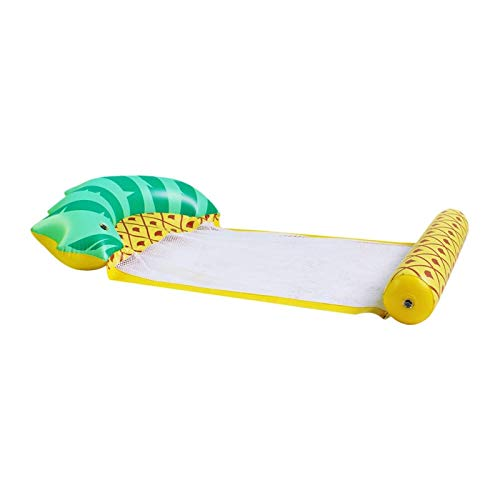 MOLUO Piscina Tumbona Cama Flotante de natación Piña de Agua Cama Flotante Silla Plegable portátil para Adulto (Color : Yellow)