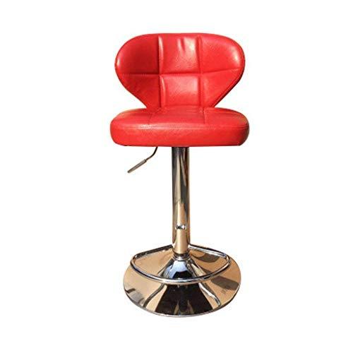 Sywlwxkq Barhocker Frühstückstheke Stühle Barhocker mit Rückenlehne, Ölwachshaut außen, Verstellbarer Drehgaslift, für Frühstück, Theke, Küche Barhocker Küche...