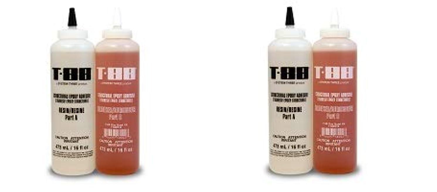 System Three 1100K16 T-88 Kit, 1 Quart Bottle, Amber (2-(Pack))