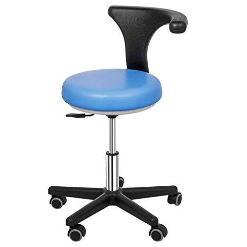 Medische tandheelkundige stoel tandarts, ergonomische hoogte verstelbare draaibare rolstoel met 360 graden rotatie armleuning assistent stoel