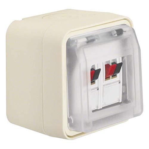 Berker Lautsprecherdose 11963512 Stereo polarweiß W.1 Einsatz/Abdeckung für Kommunikationstechnik 4011334404644