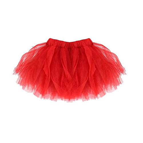JERKKY Tutu Rock 1 stuk moeder dochter korte dans tutu rok onderrok zacht gevouwen fantasie tule rood kinderen