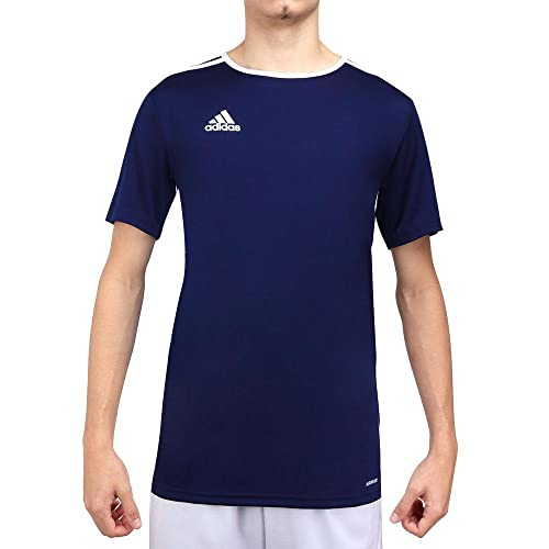 adidas Entrada 18 JSY T-Shirt, Hombre, Dark Blue/White, L