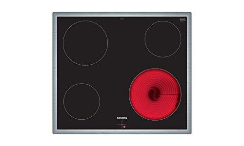 Siemens EA645GE17 iQ100 Kochfeld / 58.3 cm / Bedienung der Kochzonen über die Drehwähler am Einbauherd. / Steuerung: mechanisch / schwarz