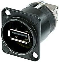 Neutrik NAUSB-W-B Reversible USB Genderchanger (Type A and B) D-Housing Chassis Connector