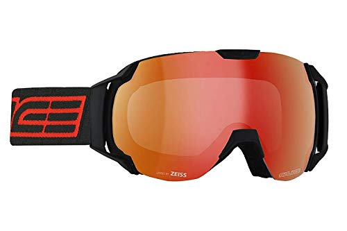 Salice 619TECH skibril SR Unisex volwassenen, zwart/rood, eenheidsmaat