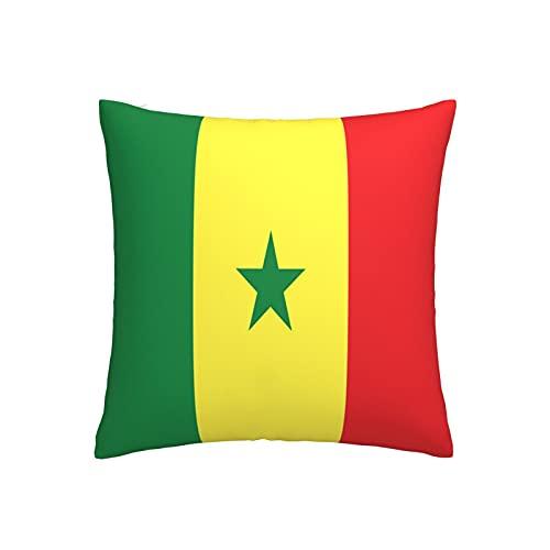 Kissenbezug, Motiv: Flagge von Senegal, quadratisch, dekorativer Kissenbezug für Sofa, Couch, Zuhause, Schlafzimmer, für drinnen & draußen, 45,7 x 45,7 cm