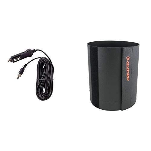 Celestron Car Battery Adapter for All Nexstar Telescopes & 94009 Lens Shade for C6 and C8 Tubes (Black)