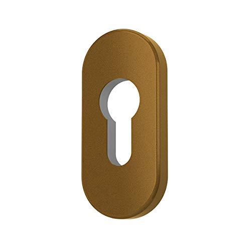 Premium Zylinder Schutzrosetten Rosetten Schließzylinder, Farbe:Gold F4, Form:Oval