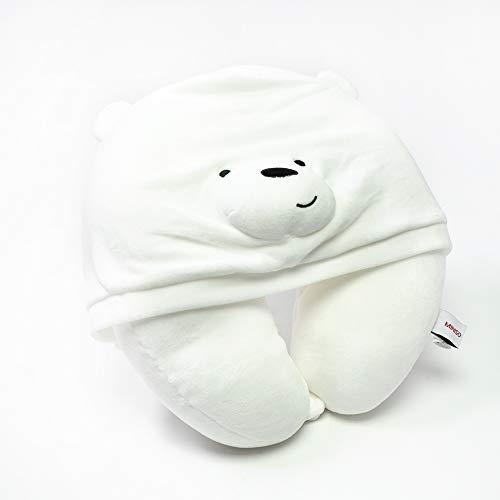 MINI SO Almohada para Viaje We Bare Bears Polar En Forma De U con Capucha