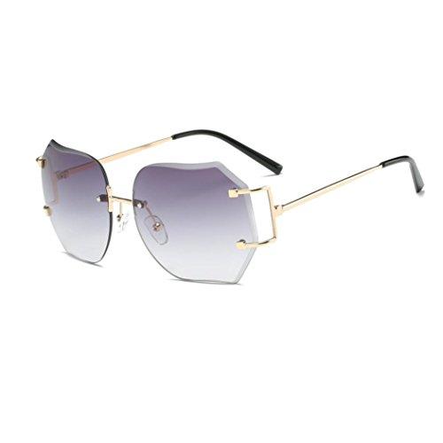 VENMO Gafas de Sol, Gafas de Color Degradado Unisex Moda Vintage Retro Plaza (Oro)