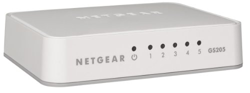 NETGEAR GS205 5-Port Gigabit Ethernet LAN Switch (Netzwerk-Switch für Desktop, Plug-and-Play, lüfterlos)