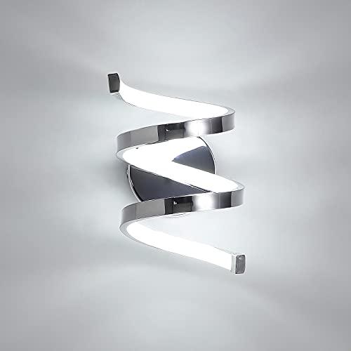 Aplique Pared LED, 18W Lámparas de Pared Moderno, Luz LED Pared 1440LM 6000K Luz Fría para Sala de Estar, Dormitorio, Pasillo, Balcón