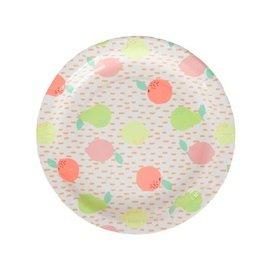 InviteMe 10 papieren borden met vers citrus-vruchten-design