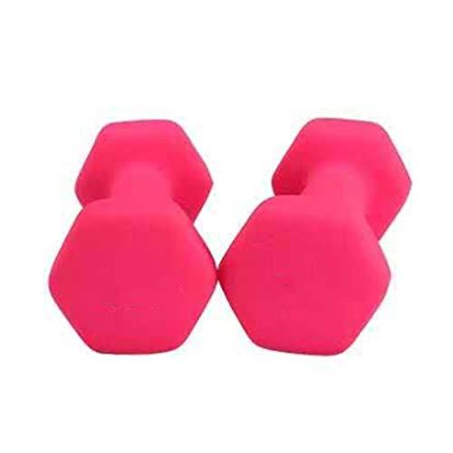 ZEL Hexagonal Gimnasio Gimnasio Ejercicio de Yoga Pérdida de Peso Niños Señoras Mancuernas Frosted Hierro Fundido Molzon Mancuernas 1.22 (Color : Pink)