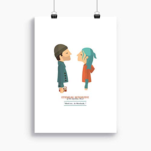 """Stampa""""Se mi lasci ti cancello (Eternal Sunshine)."""". Disponibile in due misure: A4 / A3. Citazione inclusa dal film."""