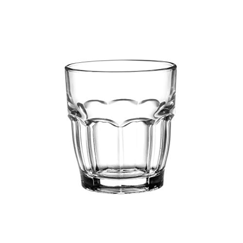 Bormioli Rocco Rock Bar Stackable Juice Glasses  Set Of 6 Dishwasher Safe Drinking Glasses For Soda Juice Milk Coke Beer Spirits  675oz Durable Tempered Glass Water Tumblers For Daily Use