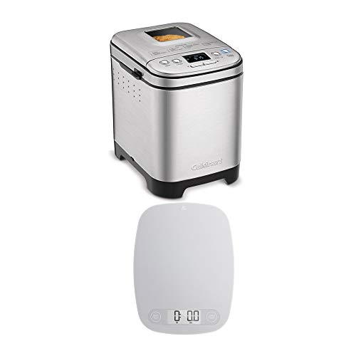 Cuisinart CBK-110 Automatic Bread Maker with Digital Food Kitchen Scale Bundle (2 Items)