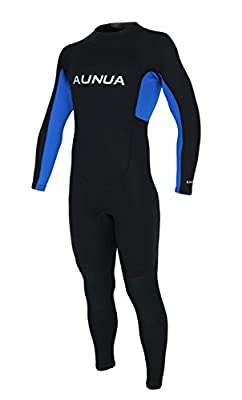 Aunua Youth 3/2mm Neoprene Wetsuits for Kids Full Wetsuit Swimming Suit Keep Warm(7031 BlackBlue 8)