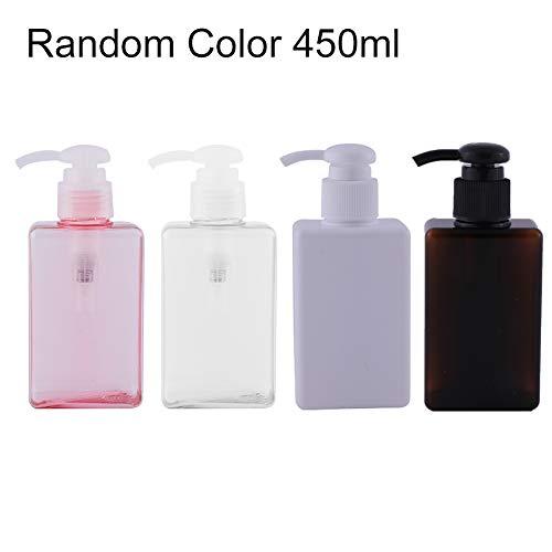 Ukallaite - 4 botellas de almacenamiento para cosméticos, 100/150/250/280/450 ml, dispensador de líquido con bomba multiusos para champú de emulsión o botella de lavado corporal, PETG., 450 ml., Random Color