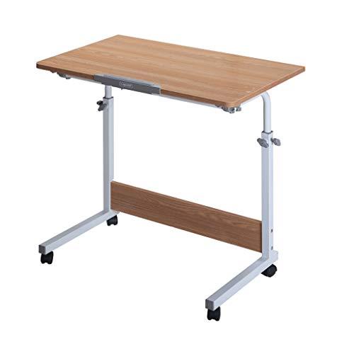 ZCY Computertisch Schreibtisch Laptoptisch Beistelltisch Mit Rollen Höhenverstellbar, Laptopständer, Pflegetisch Mit Metallgestell, Beistelltisch Mit Ablage (Color : A, Size : 80x50CM)