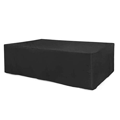 HAOT Cubierta Protectora de Muebles de Patio, Cubierta de Muebles de Exterior para Mesa, Cubierta de Conjunto de Cubo de ratán de Patio, Cubierta de Muebles de jardín, Impermeable, a Prueba de Vi