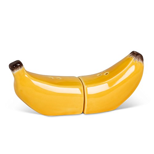 Abbott Collection 27-Fruity Magnetic Banana Salt & Pepper, Yellow