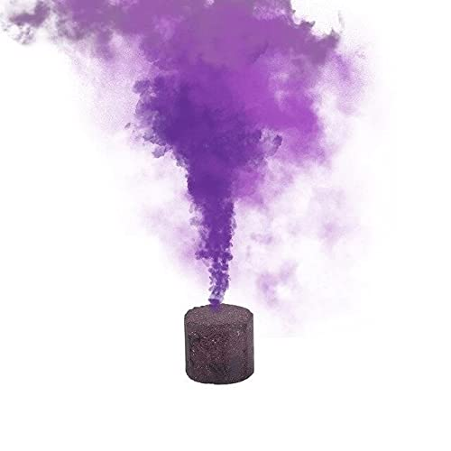 Fancy Combs Purple Colorful Tube Bottle Smoke Cake Spray Smoke Effect Show Halloween Party Stage...