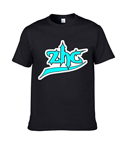 wubingya ZHC T-Shirts for Men S Black
