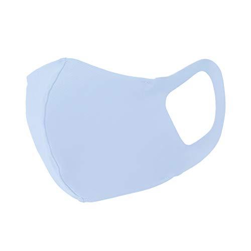 [アリサナ] 日本製 洗える マスク 涼しい 冷感 軽い 立体 水着素材 サラサラ UVカット クールタイプ ブルー Sサイズ