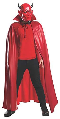 Rubie's Men's Scream Queens Deluxe Red Devil 3/4 Mask and Cape Set, Standard