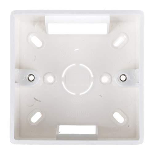 1PC Wasserdicht 86-Typ Schalter Steckdose, Sockelauskleidung, Abzweigdose Aufputzdose Unterkasten, Wandschalter Steckdosenbox, Aufputzdose, Steckdosenplatte Schalterkasten Abdeckschutz weiß