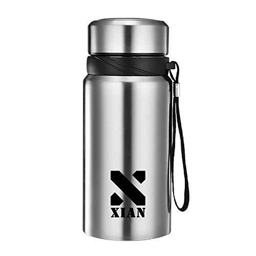 Xian Ju Vakuum Isolierte Trinkflasche aus Hochwertigem Edelstahl, 610ml – Doppelwandige Vakuum Isolierte Wasserflasche, BPA Frei Auslaufsicher Sportflasche für Kinder, Erwachsen, Reisen, Auto(Silber)