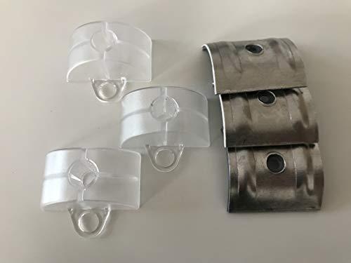 Set aus Abstandhalter und Kalotten Aluminium und Kunststoff 100 Stück Sinus-Profil 76/18 Wellplatten Acryl-Glas Bedachung
