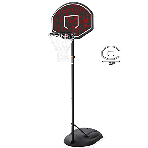 MaxKare Portable Basketball Hoop & Goal Basketball System Stand Height...