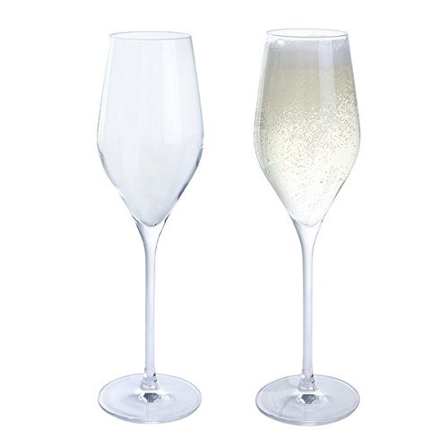 Dartington Kristallgläser für Wein Und Prosecco, durchsichtig, 2-teilig